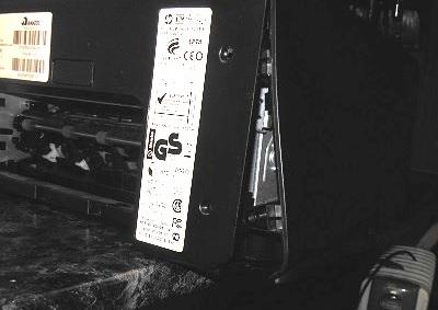 разборка HP 8500a снимаем заднюю крышку