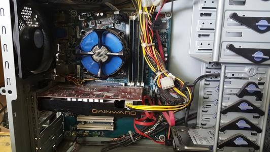 Компьютер i5-660 БУ внутри