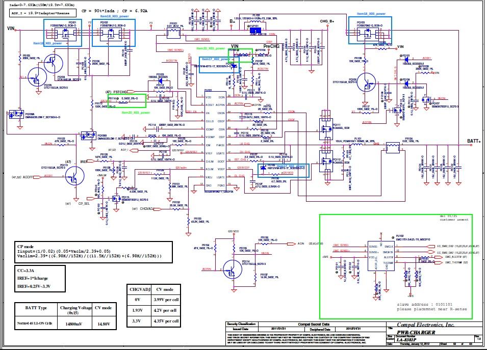 Ремонт платы LA-5381P Alienware