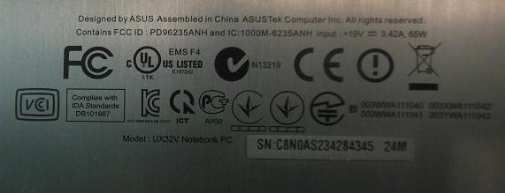 ремонт Asus UX32WD