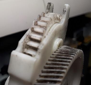 HP 2055 трещит износ шестерни