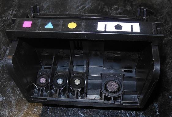 Устройство 4-цветной печатающей головки HP