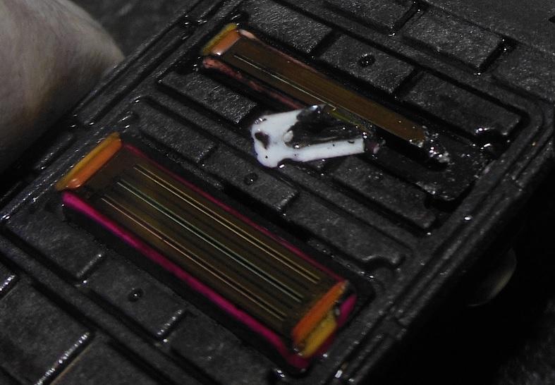Строение 4 цветногй головки HP