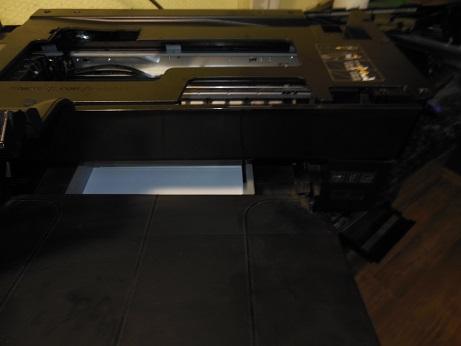 снимаем верх лотка бумаги Officejet 7610