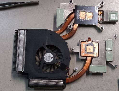 поломка системы охлаждения ноутбука