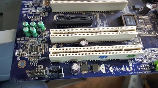 восстановленная плата компьютера