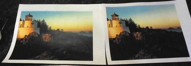 печать Canon LBP7010c до и после ремонта