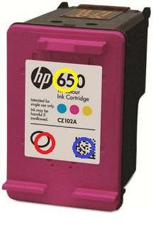 заправка цветного струйного картриджа HP с головкой