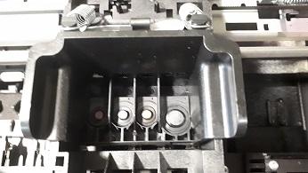 Чистка печатающей головки HP 5525