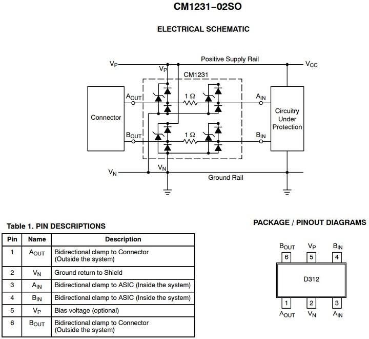 микросхема защиты USB в HP CP1025