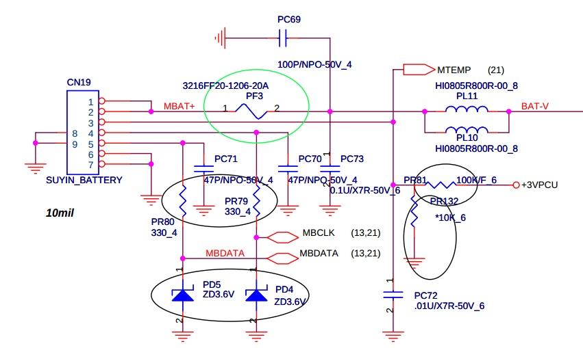 схема управления батареи ноутбука