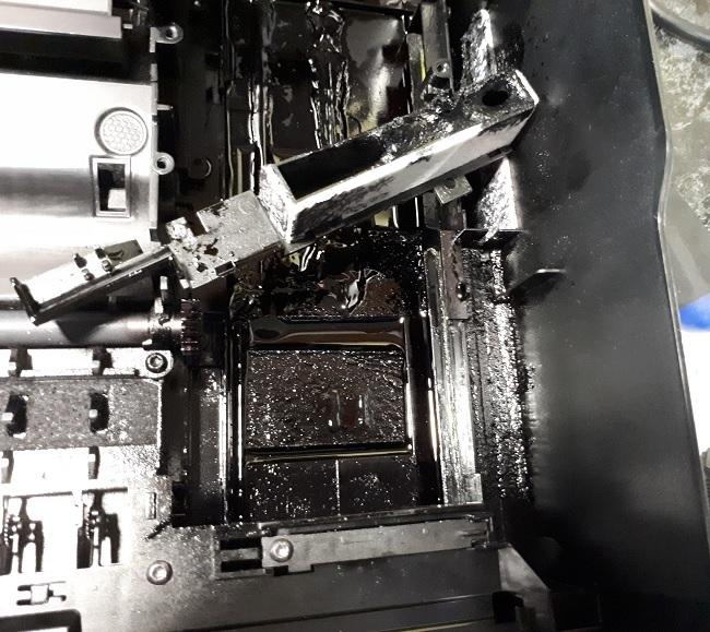 Переполнение HP DJ 3525 5525 3070 бункера чернил