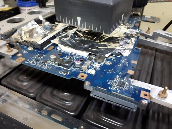 ремонт платы ноутбука Toshiba