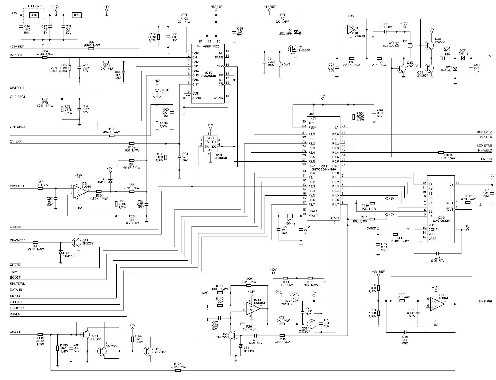 Схема подключения процессора Smart-UPS