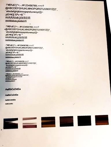 Струйный принтер HP смешивает цвета