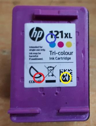 Заправка картриджей HP 121