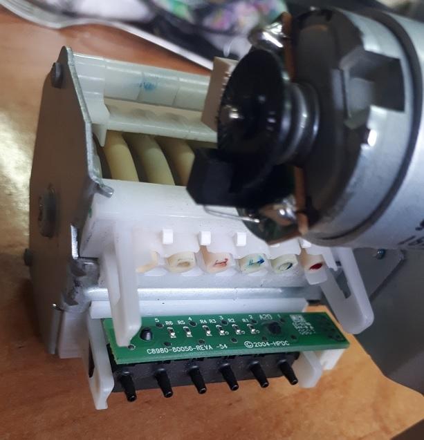 датчики проводимости чернил в принтере HP
