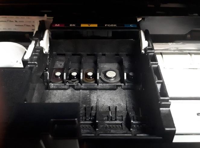 Чистка головкиCanon TS5040