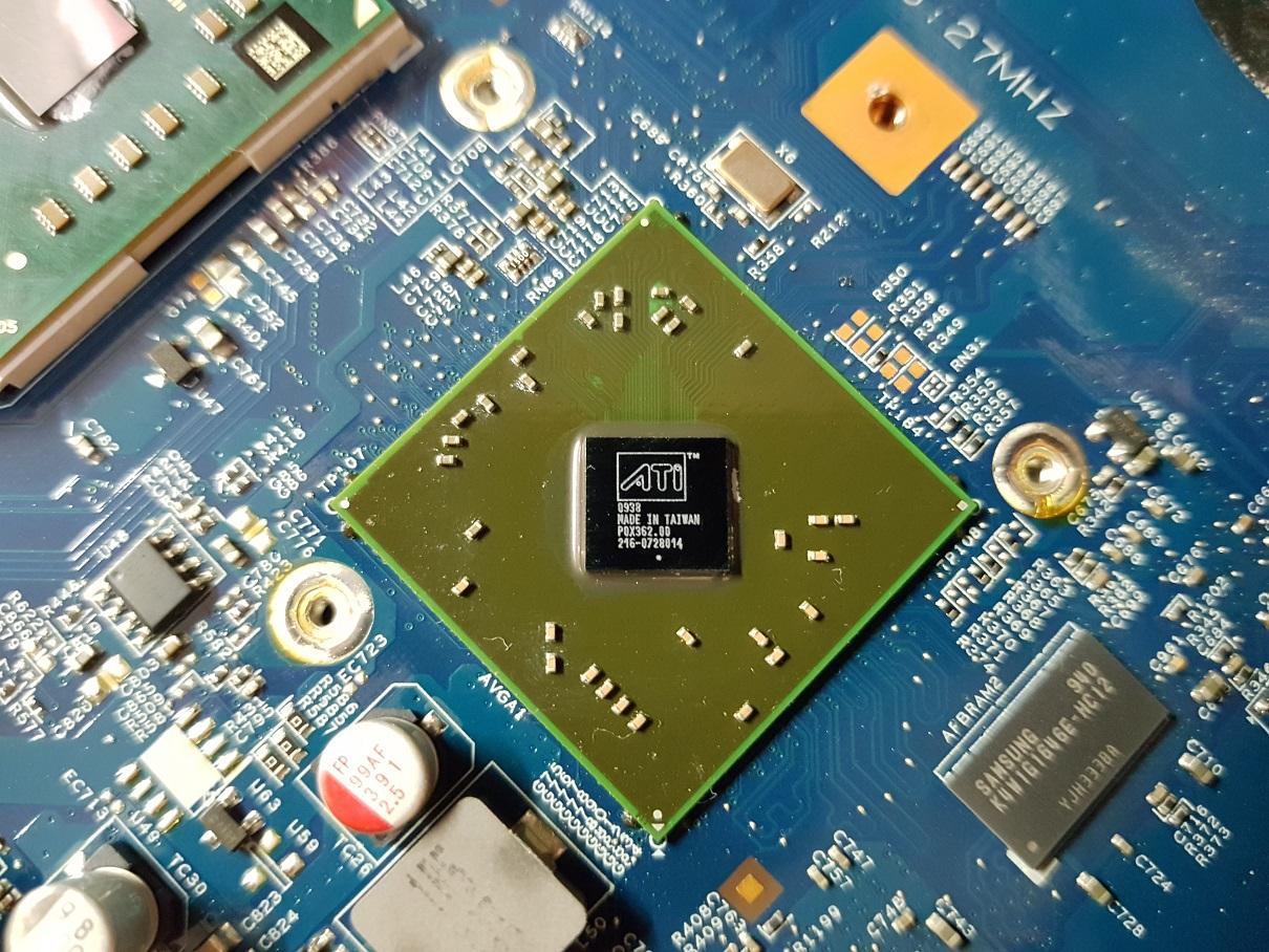 замена видеокарты Acer 7540g