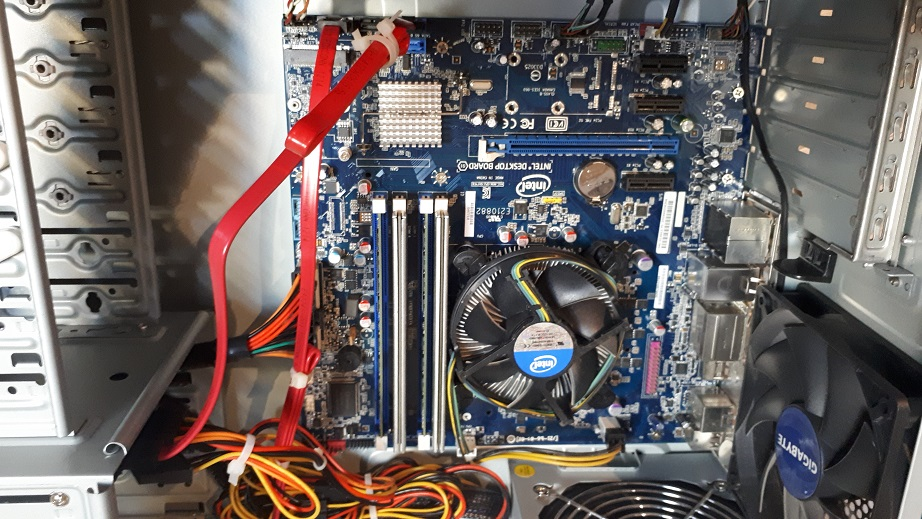 БУ компьютер i3-3225-6-240 для офиса внутри