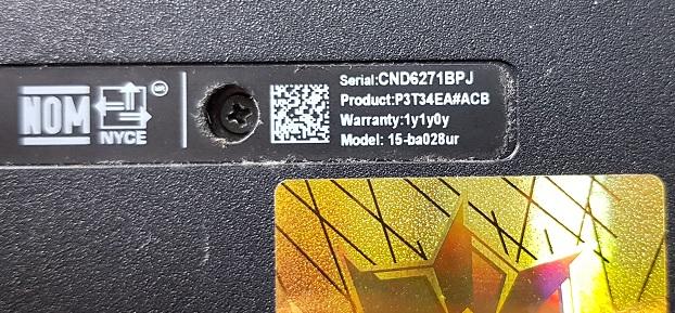 Восстановление ноутбука HP 15-ba028ur после кз