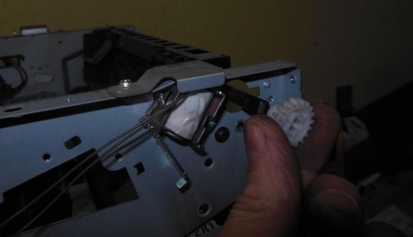 снятие печки HP LJ M2727 2
