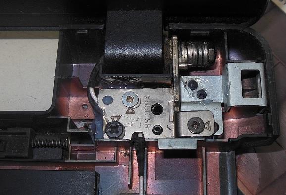 ремонт крепления петель asus x550