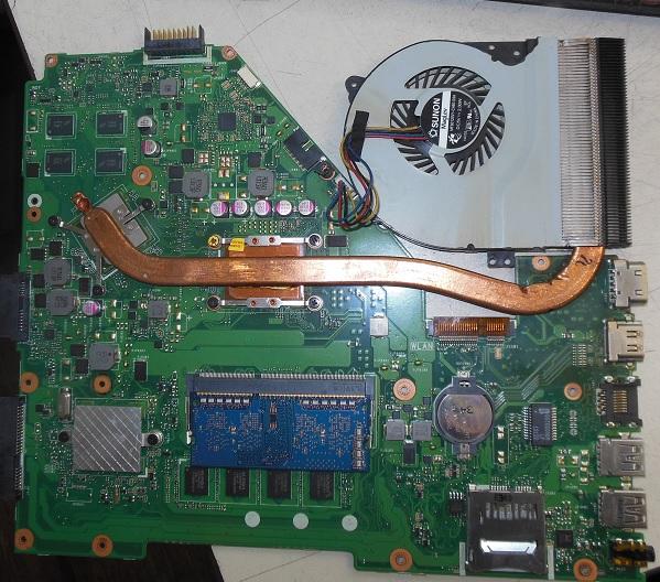 ремонт системы охлаждения asus x550СС