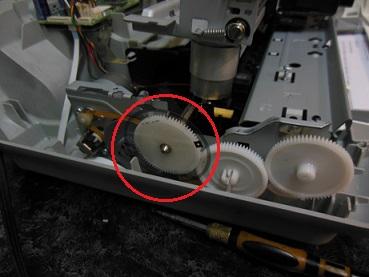 Ремонт замятия каретки HP F4283
