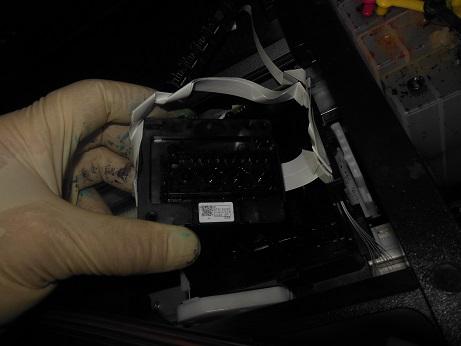 снимаем головку Epson WF-7610