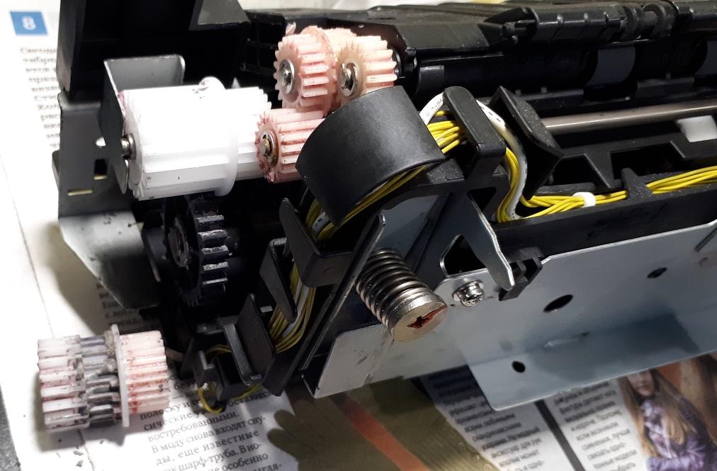 Замена шестерни печки iR 2520