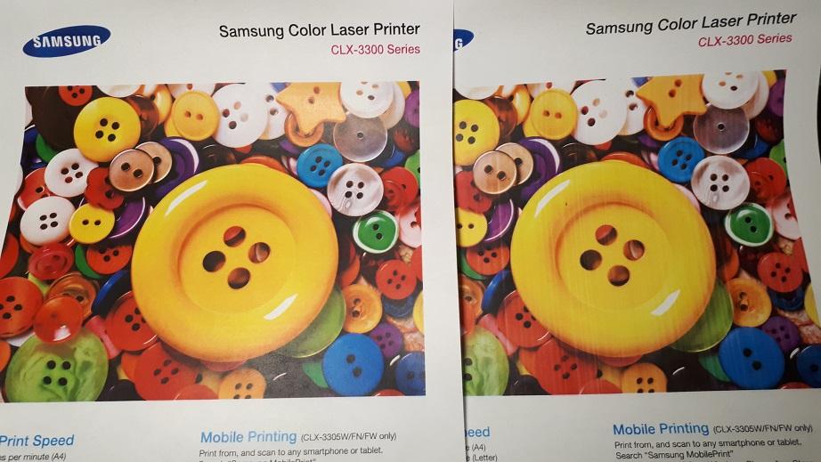 качество печати CLX-3305 после чистки оптики