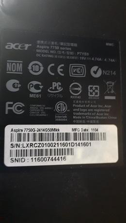 Ремонт Acer 7750G-2414G50Mkk