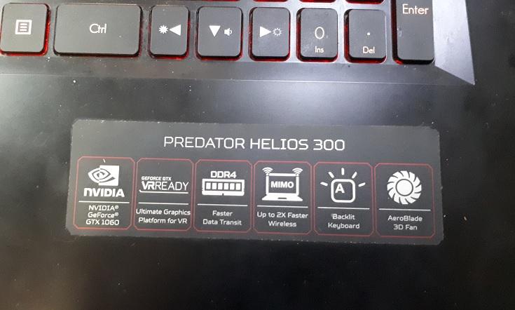 Ноутбук Acer Predator Helios 300 перегревается перезагружается