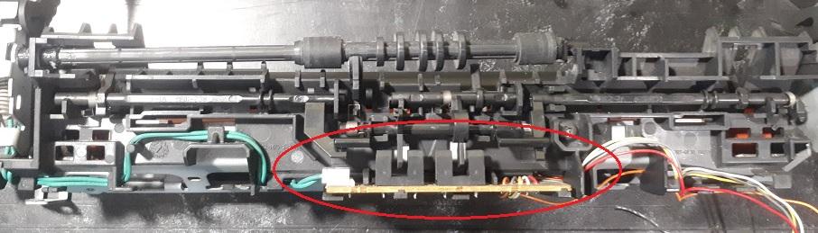 Датчик бумаги в печке HP M1132