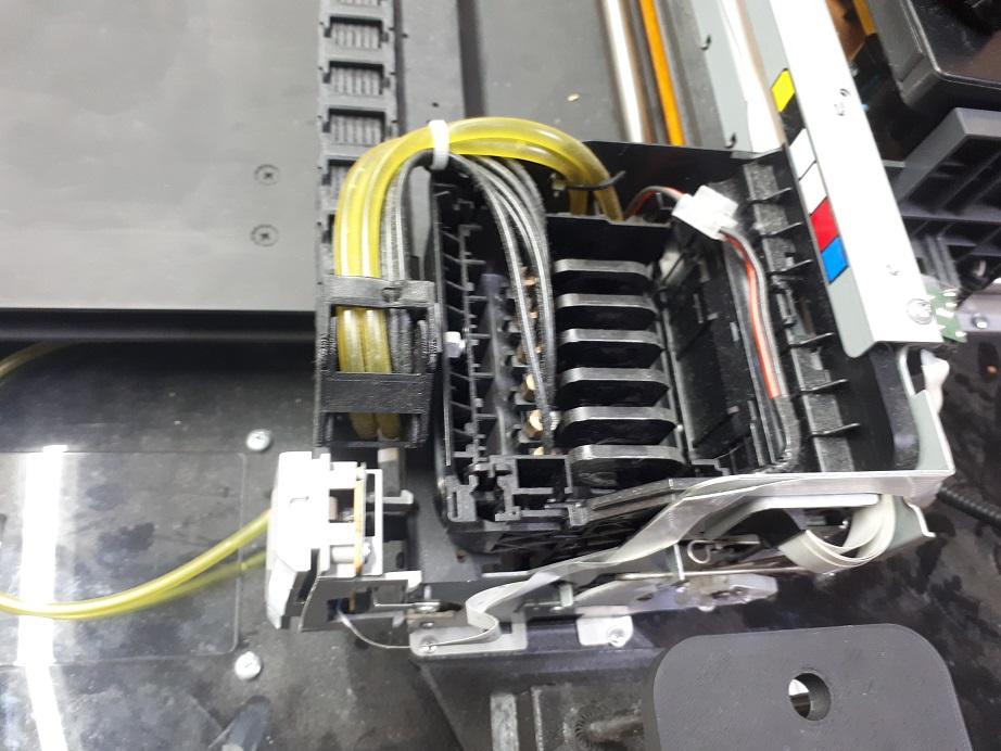 каретка планшетного принтера с УФ лампой