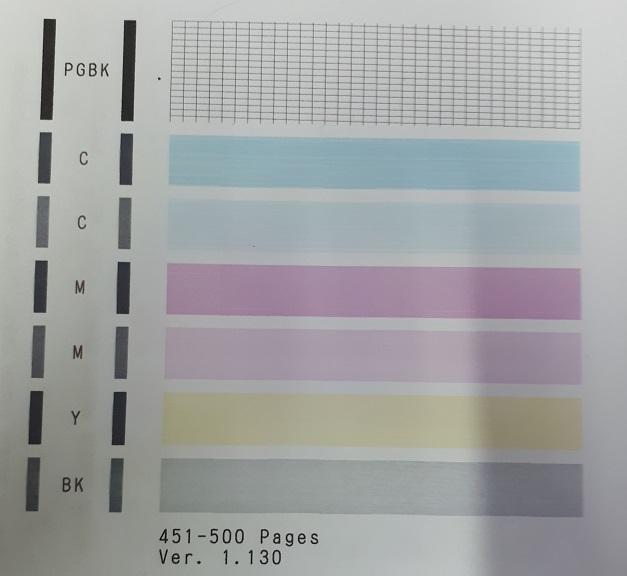 печать после замены совместимых картриджей на оригинальные заправленные