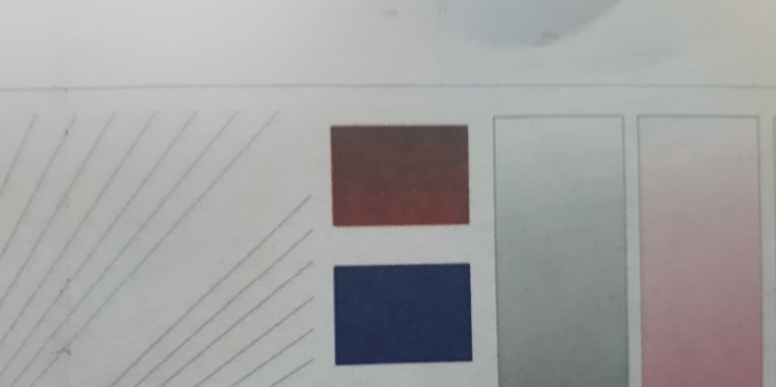 смешение цветов в головке Epson L800 до ремонта